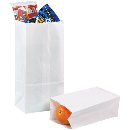 White Grocery Paper Bags Paper packaging sold by Ameripak, Inc.