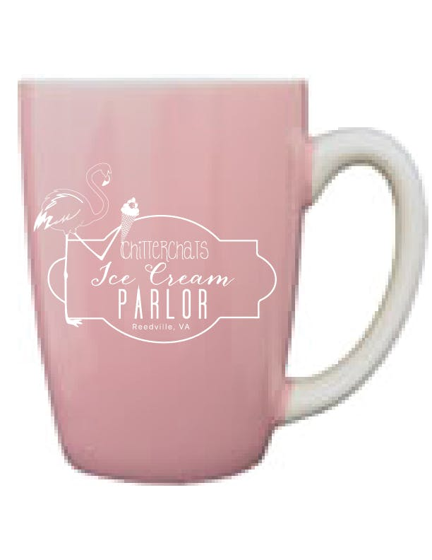 481-02/226-02C - Pink Out, White In, 12.5 oz Canaveral Endeavor Mug Ceramic mug sold by ARTon Products