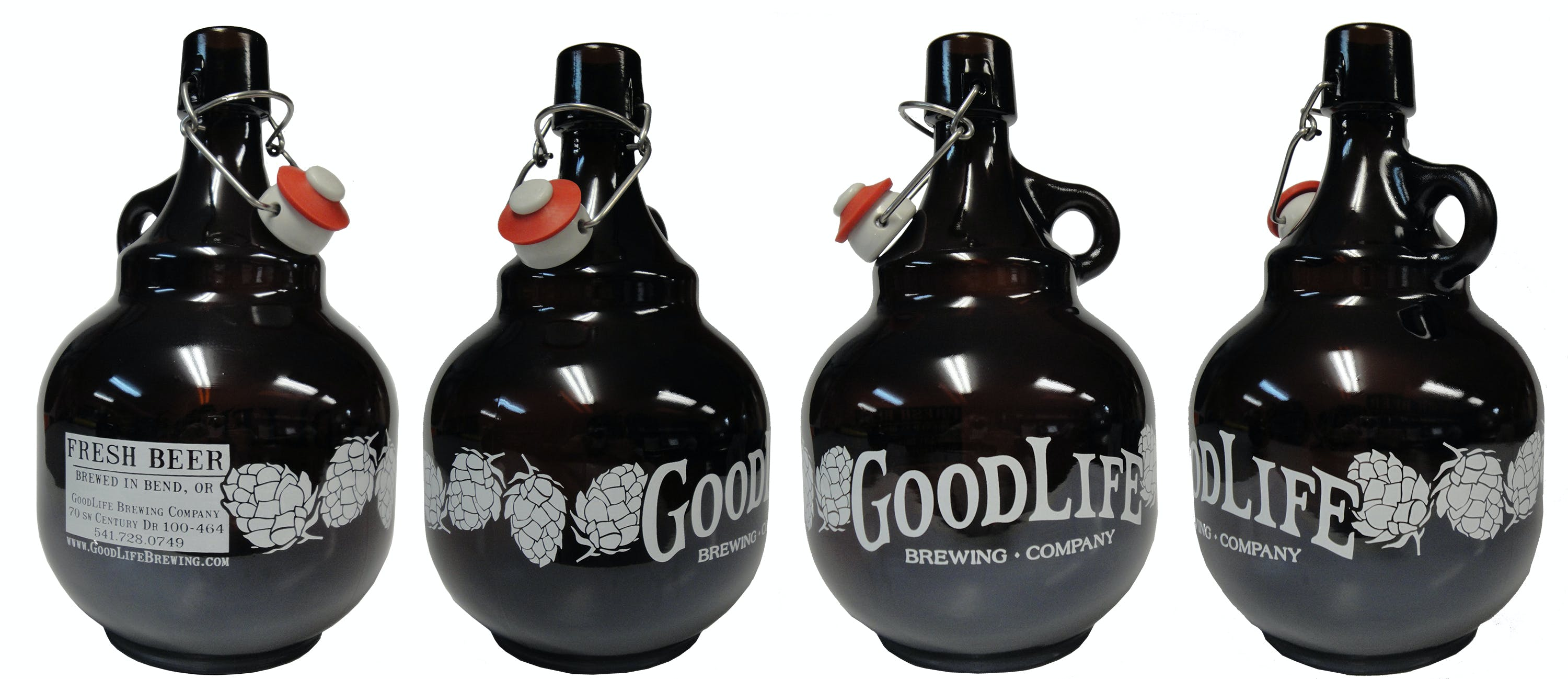 2L Amber Palla Growler sold by Cascade Graphics