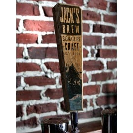 Customizable oak wood tap handles Tap handle sold by Barproducts.com