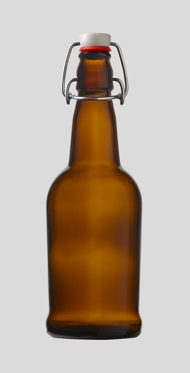 500ml/16oz Amber E.Z.Cap Swing/Flip Top Bottle Glass bottle sold by E.Z. Cap