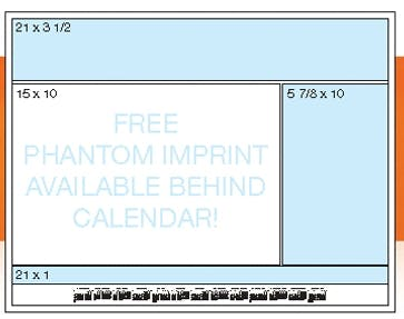 Calendar Desk Pads (Blue Preprinted Calendar) 1 Or 2 Color - Comparable To Bebco B896 Custom calendar sold by Dechan, Inc. II