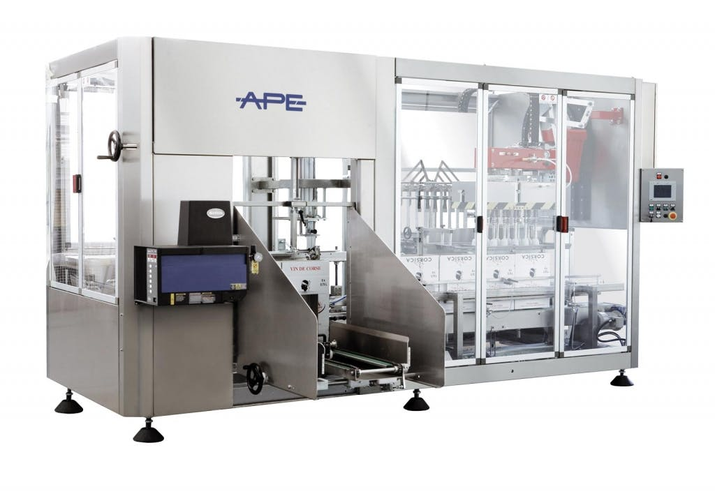Ape Impianti UNIBLOCK HM BEER Case packers Case packer sold by Prospero Equipment Corp.