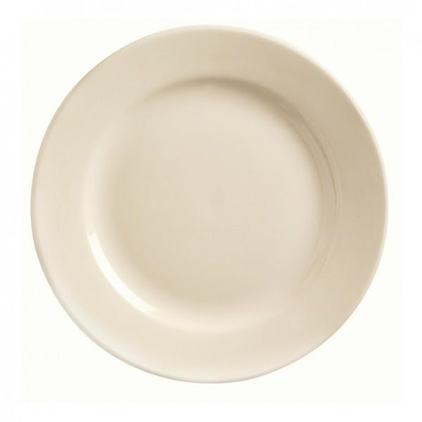 "Princess White 12"" Cream White Dinner Plate"