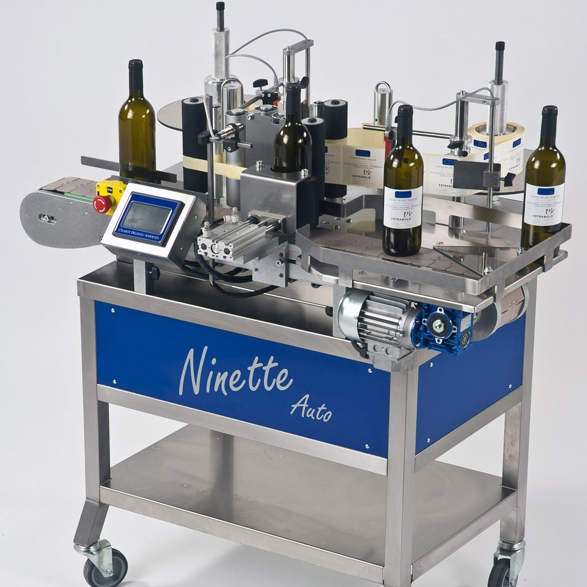 Bottle Labeler - CDA Ninette Auto Labeler for Wine Bottles Bottle labeler sold by Package Devices LLC
