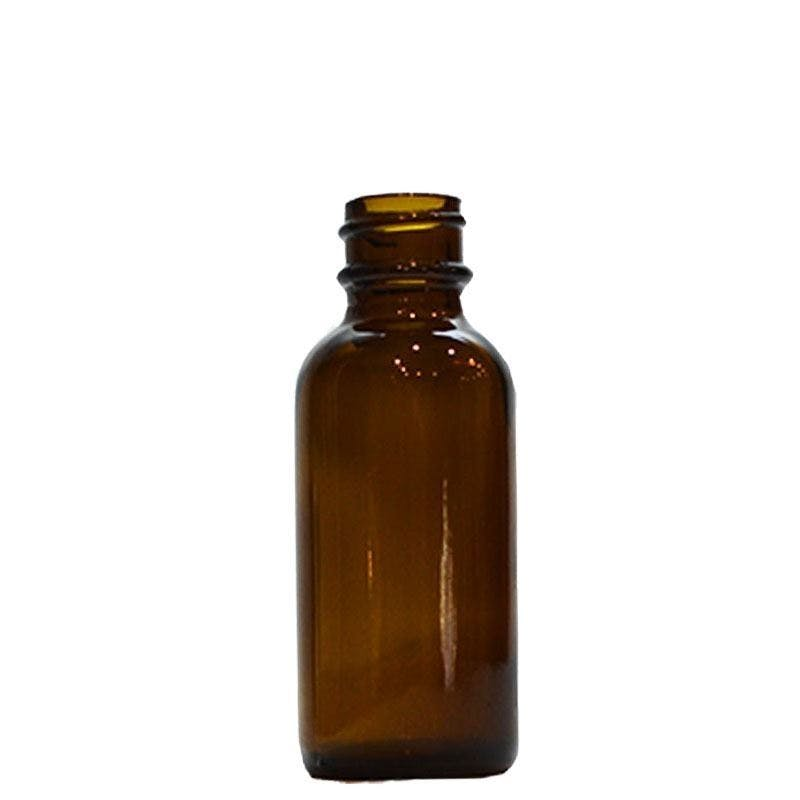 1 oz Amber Boston Round with No Closure (20/400) Glass bottle sold by Glass Bottle Outlet