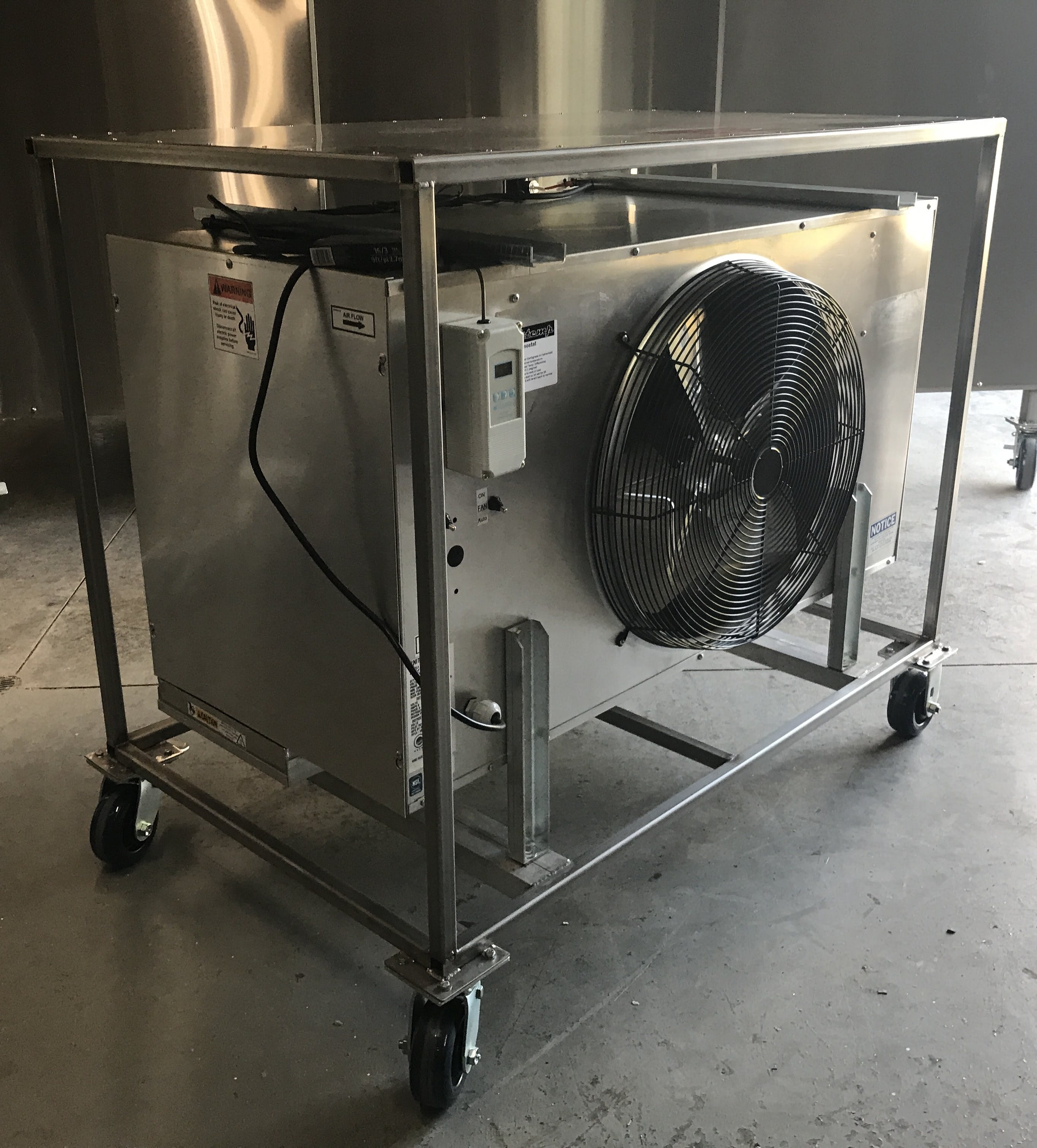 Glycol blower coil for heating or cooling spaces with your glycol system Glycol chiller sold by Tanktemp Control