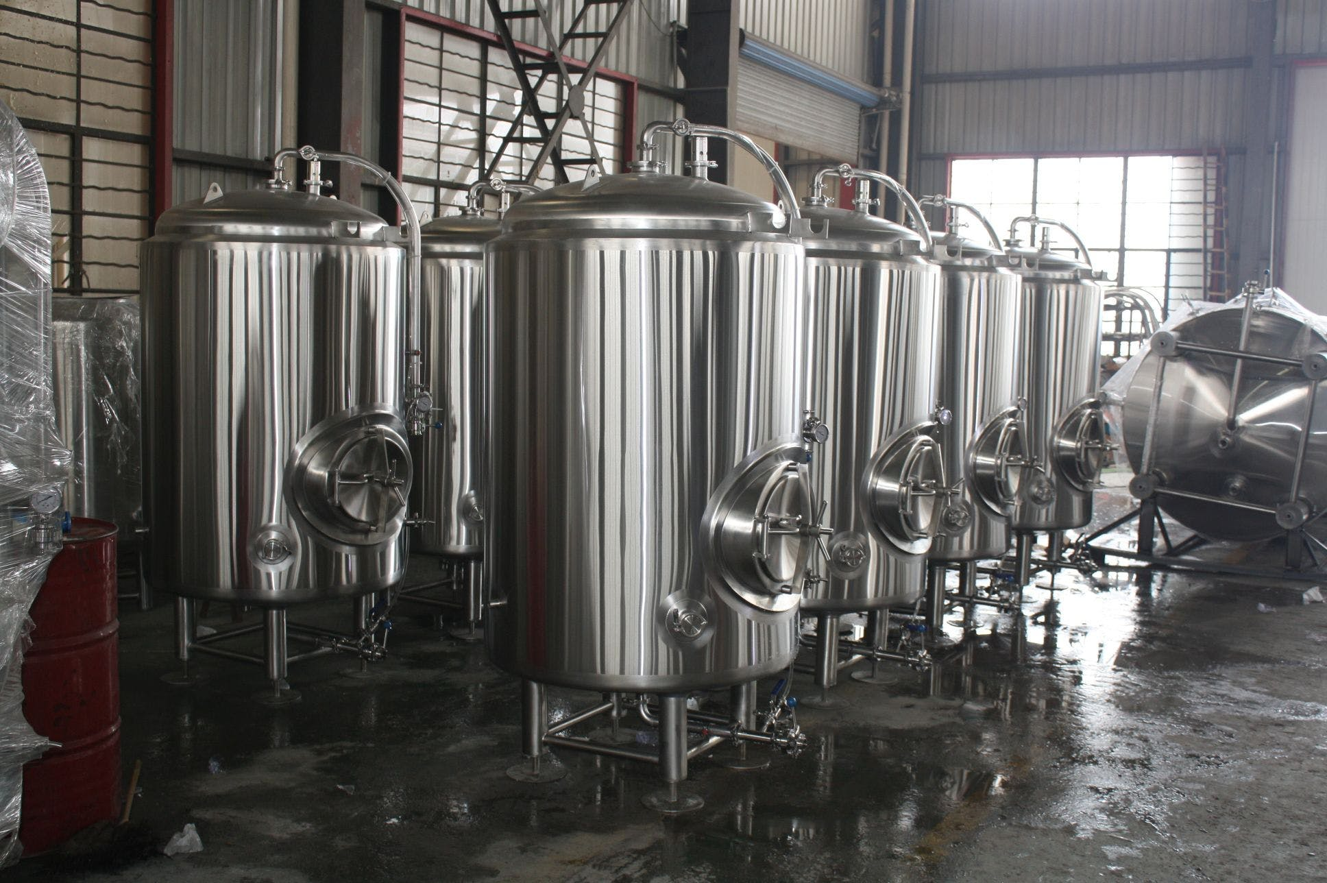 7 bbl jacketed brite tanks Bright tank sold by Ager Tank & Equipment Co.