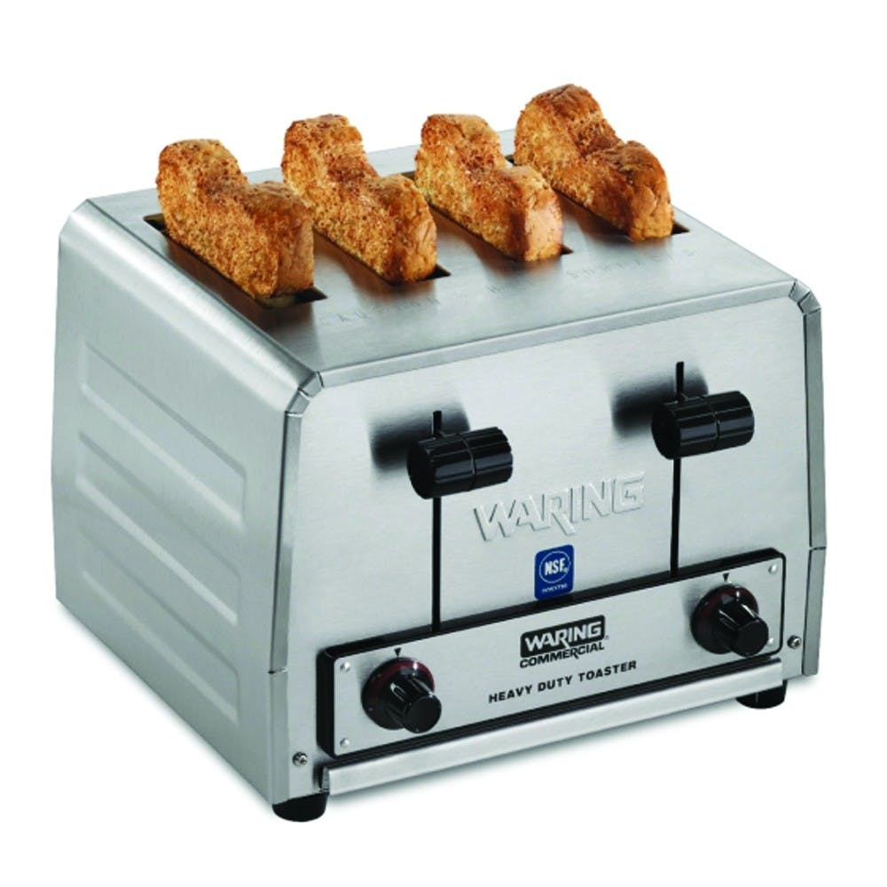 Waring Commercial WCT850RC Commercial Toaster - 300 Slices/Hr, 4 Extra Wide Slots Commercial toaster sold by Mission Restaurant Supply