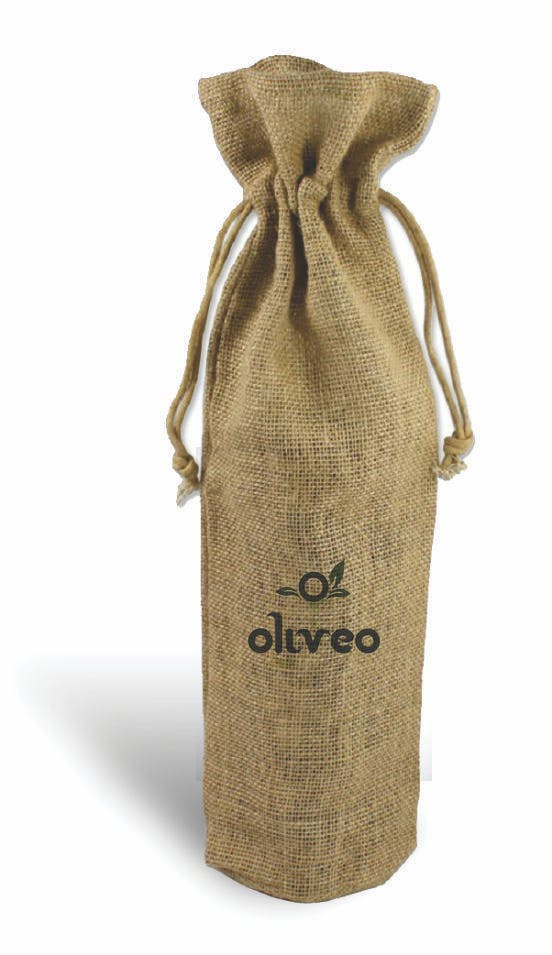 Custom Drawstring Wine Bag  Wine bag sold by Casa Amarosa