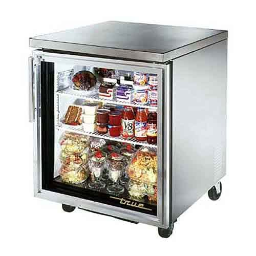"True - TUC-27G-ADA 28"" ADA Compliant Glass Door Undercounter Refrigerator Commercial refrigerator sold by Food Service Warehouse"