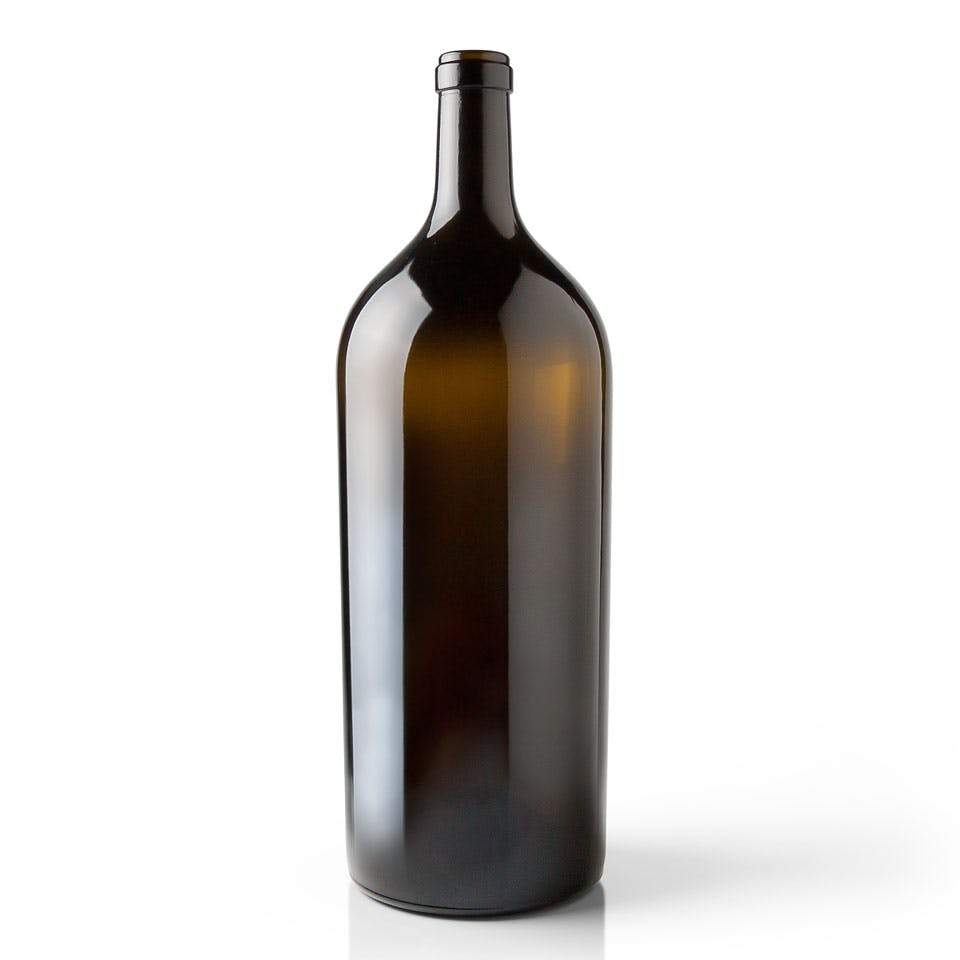 6 liter Antique Green Glass Claret Wine Bottle Wine bottle sold by Packaging Options Direct