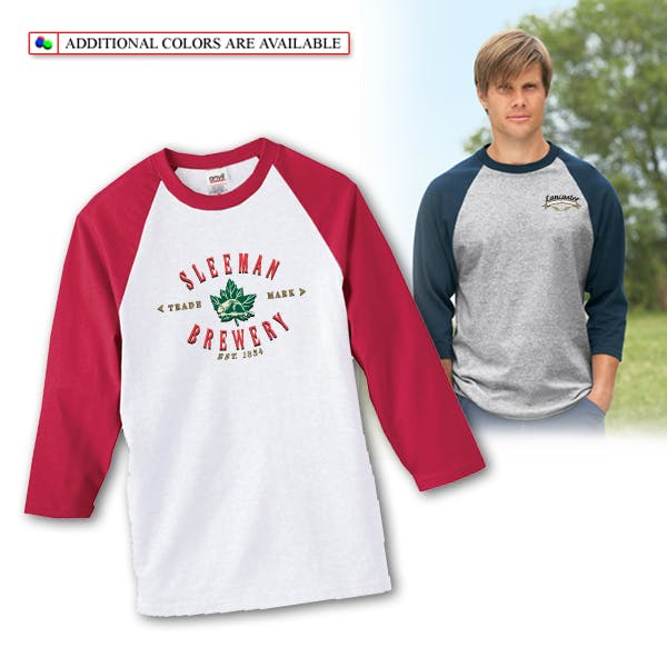 Anvil 3/4-Sleeve Raglan Baseball Jersey Promotional shirt sold by MicrobrewMarketing.com