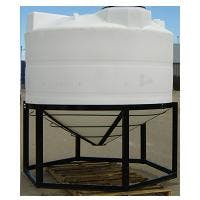 1600 Gallon Cone Bottom Tank with Stand Plastic tank sold by PlasticWaterTanks.com