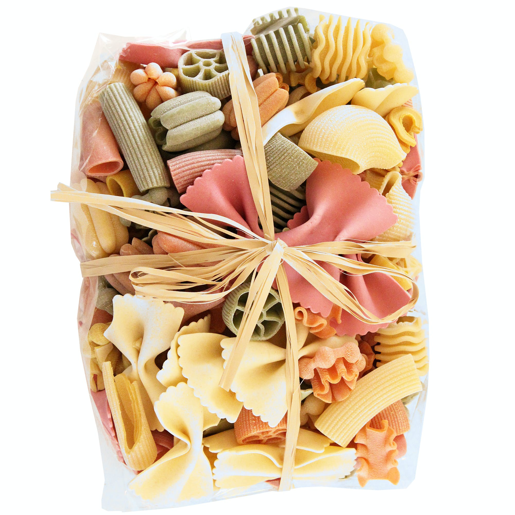 "Limited Edition Colored Leftovers ""Monnezza Verdure"" Pasta w/ Raffia Ribbon Pasta sold by M5 Corporation"