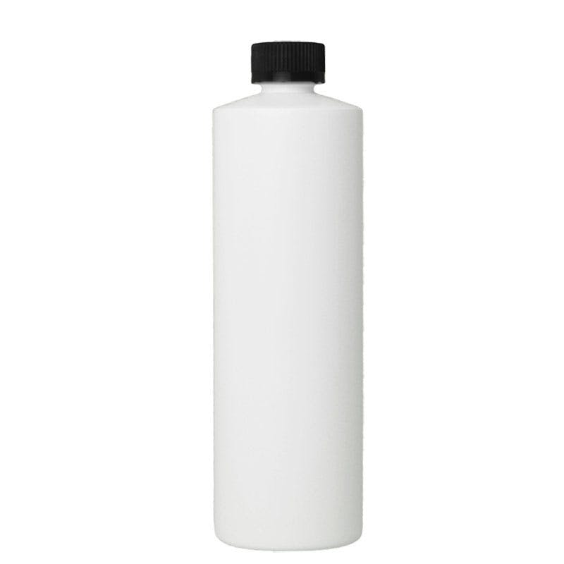16 oz Natural Plastic with foam cap Plastic bottle sold by Glass Bottle Outlet