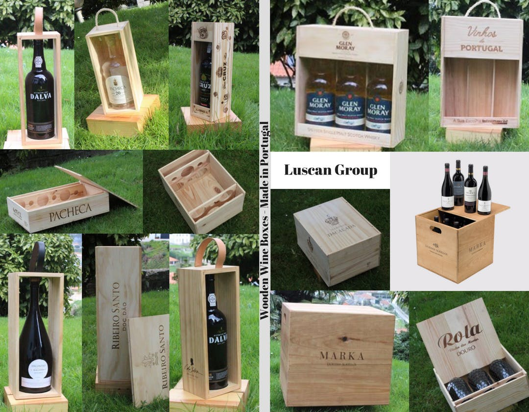 Cardboard Boxes & Bottle Carrier & Wooden Wine Boxes - sold by Luscan Group