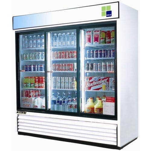 "Turbo Air - TGM-69R 78"" Sliding Glass Door Merchandiser Commercial refrigerator sold by Food Service Warehouse"