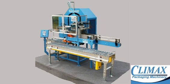 Strate Line Case Packer Wine packaging sold by Climax Packaging Machinery