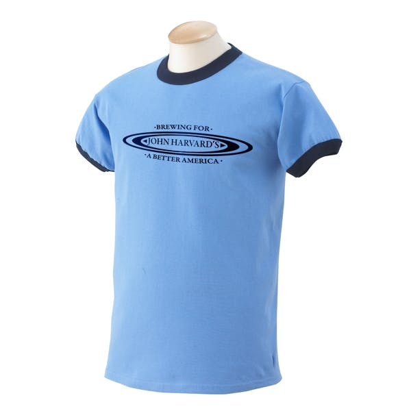 Gildan 6.1 oz. Ultra Cotton Ringer T-Shirt Promotional shirt sold by MicrobrewMarketing.com