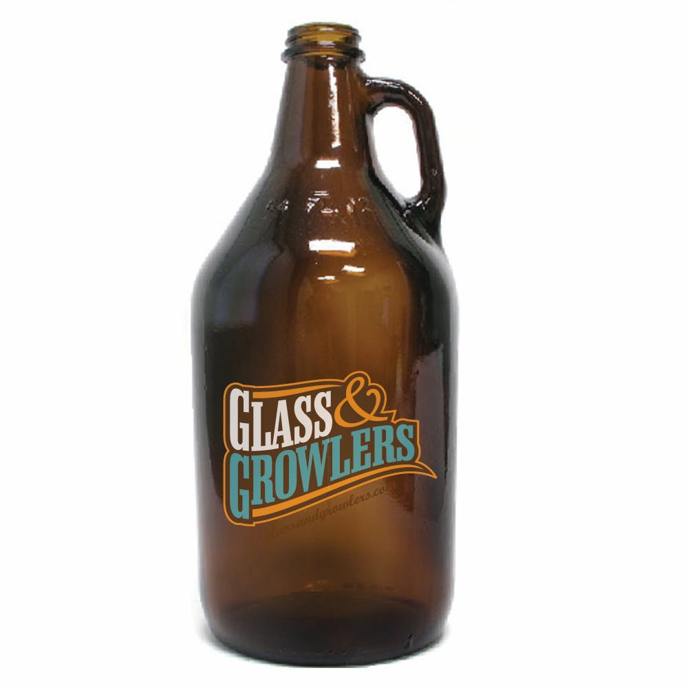 32 oz Amber Growler Growler sold by Glass and Growlers