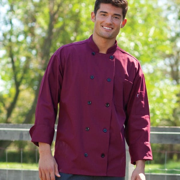2XL Burgundy Chef Coat