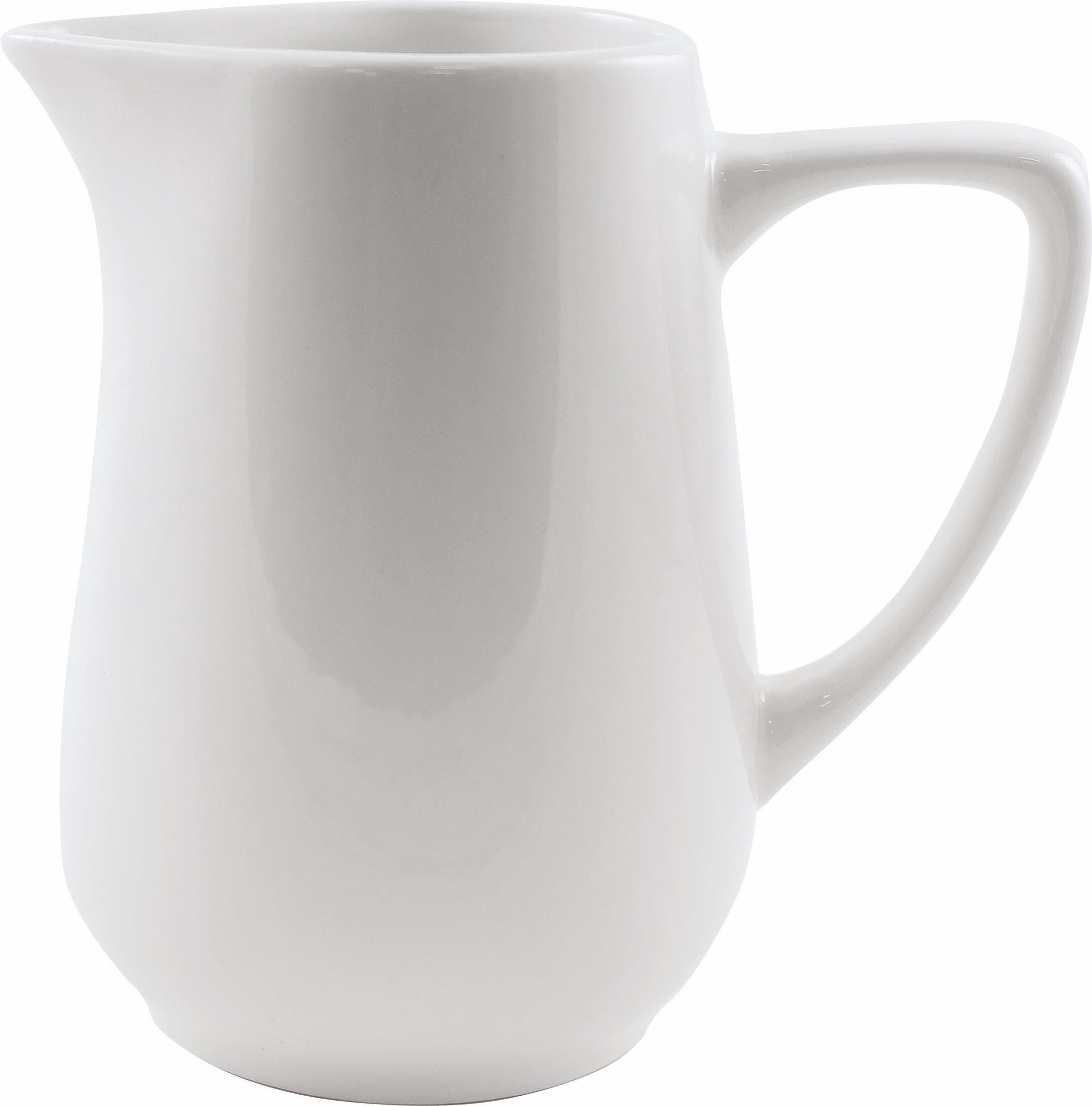12.5 oz. Dover White Porcelain Creamer Plate sold by Prestige Glassware
