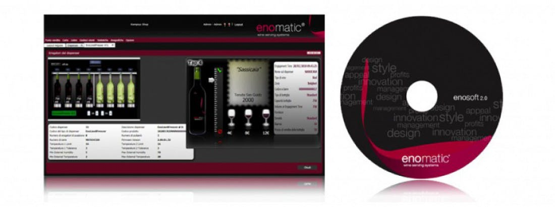 Enosoft® Software Package Wine dispensing tap sold by Enomatic Wine Serving Systems