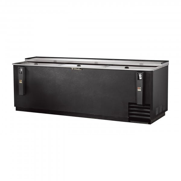 "95"" Black Deep Well Bottle Box Cooler"