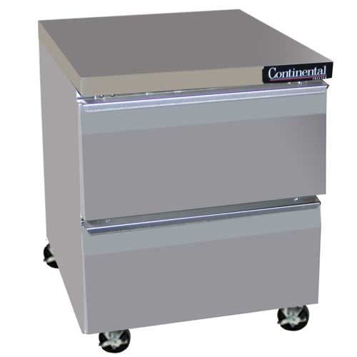 "Continental Refrigerator - SW27-D 27"" Drawered Worktop Refrigerator Commercial refrigerator sold by Food Service Warehouse"