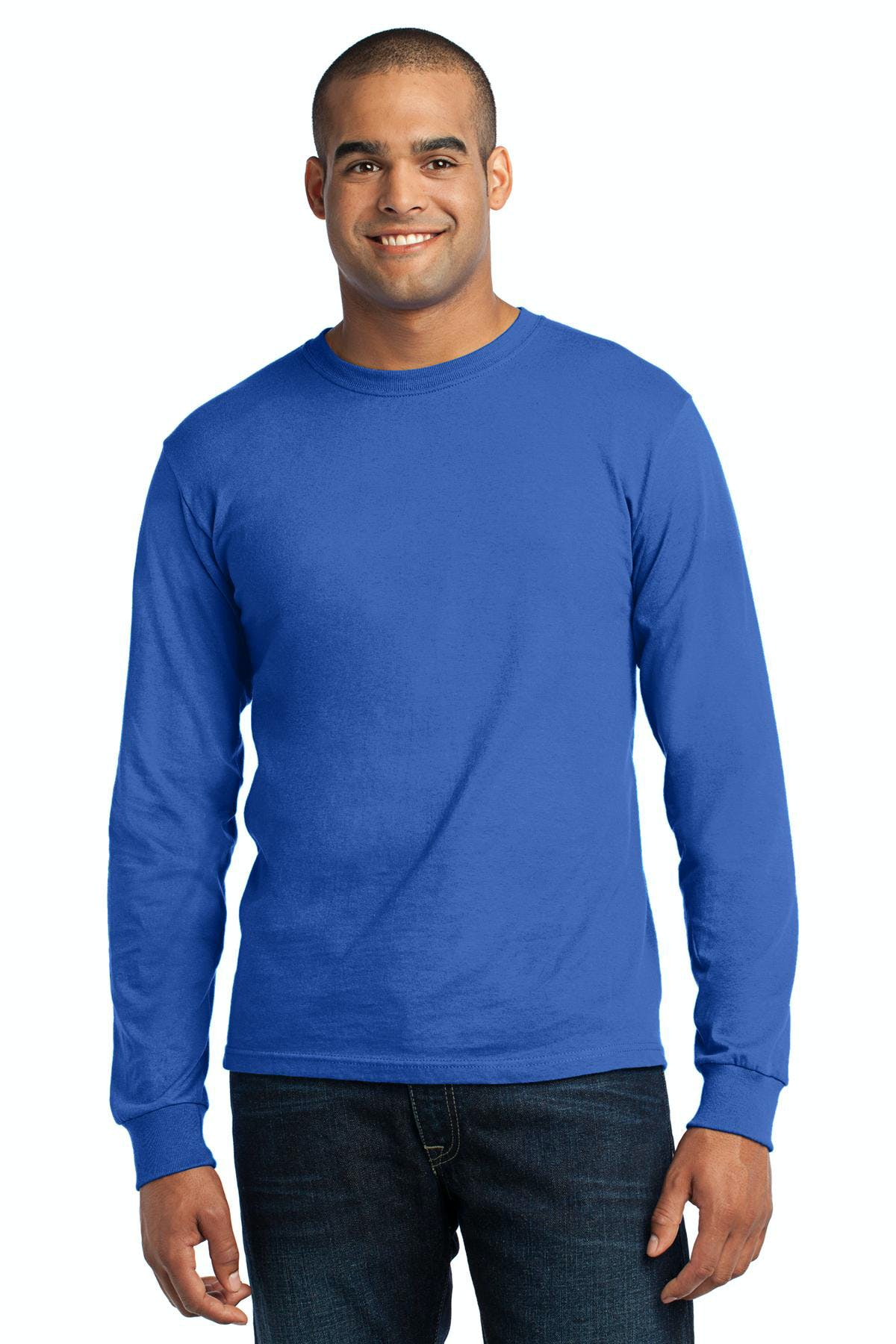 Port & Company® - Long Sleeve All-American Tee - sold by PRINT CITY GRAPHICS, INC