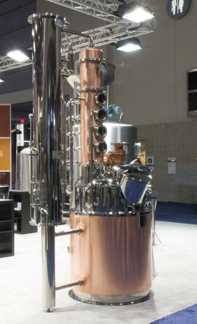 Barison Column Still Distillation still sold by Prospero Equipment Corp.