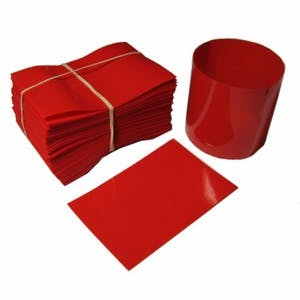 Red Shrink Bands for Sauce Bottles with 38mm Finish Shrink band sold by Fillmore Container Inc