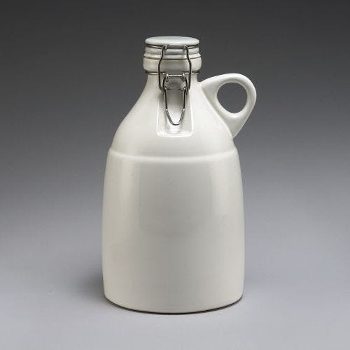The Grigri - Gloss White 64oz - sold by Portland Growler Company