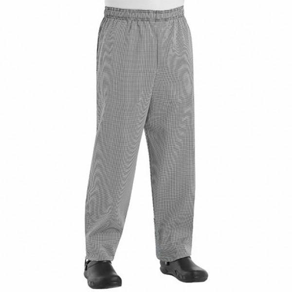 Large Black & White Check Baggy Chef Pants