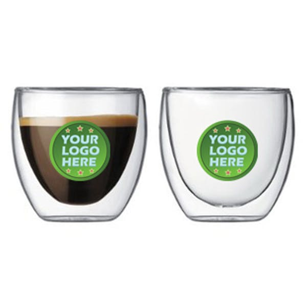Double Wall Blown Espresso or Shot Glass Shot glass sold by Luscan Group