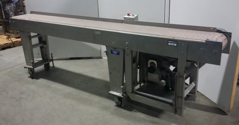 121'' Stainless Steel Conveyor (Used) - sold by Aevos Equipment