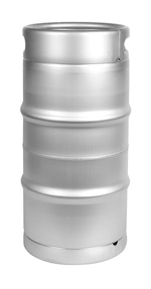 "NEW! 1/4 Barrel Commercial Keg with Sankey ""D"" Spear. Keg sold by All Safe Global, Inc."