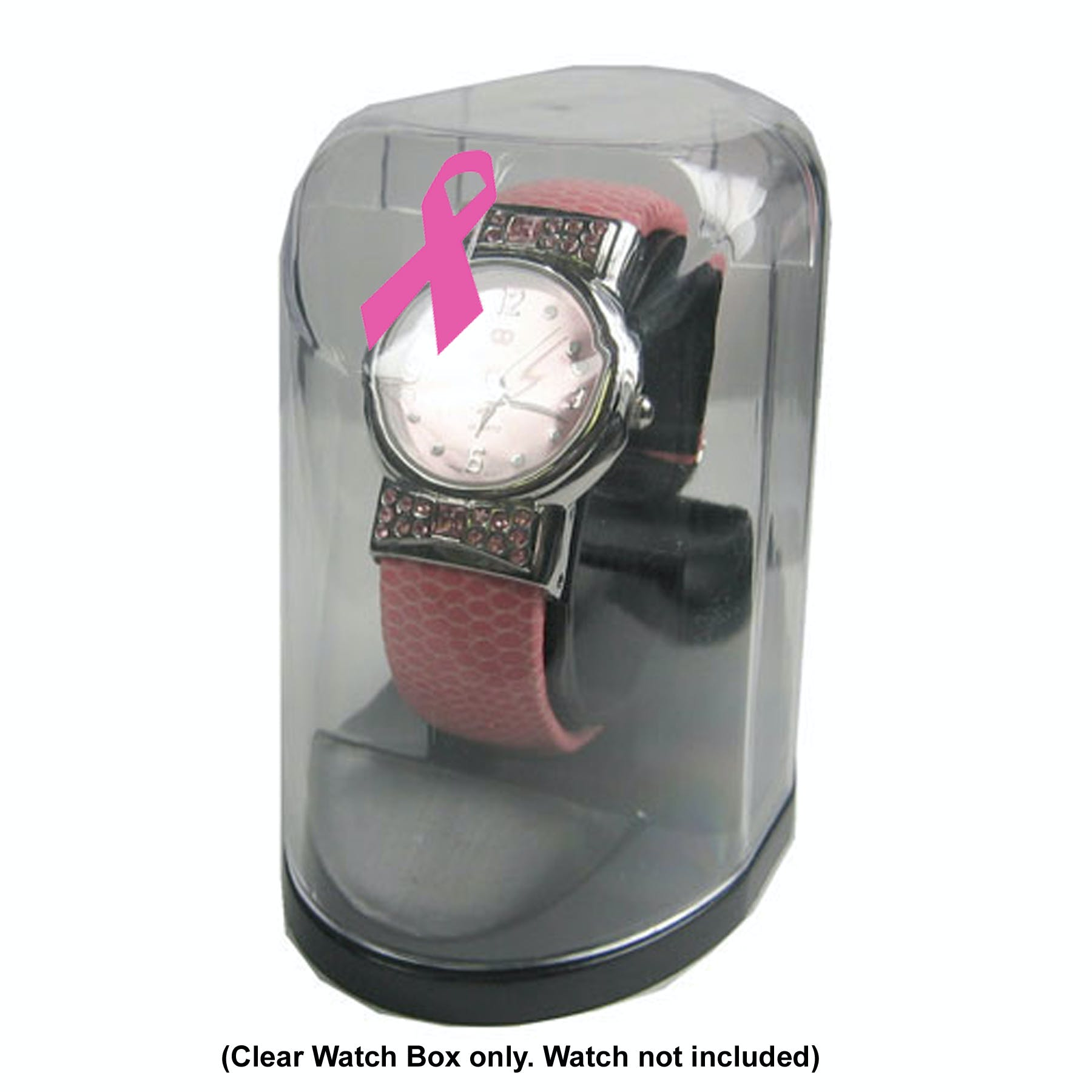 Plastic Watch Box with Watch Holder (Item # GJKNO-GWRXP) Custom packaging sold by InkEasy