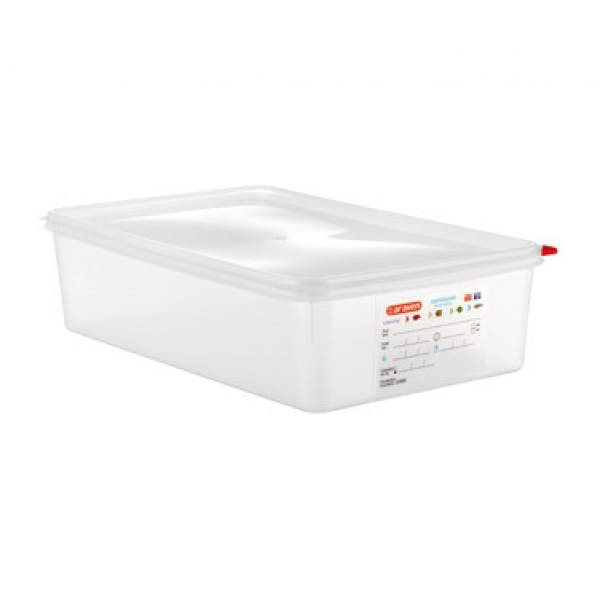 14.4 qt. Full Size Colorclip® Clear Airtight Food Storage Container w/ Lid