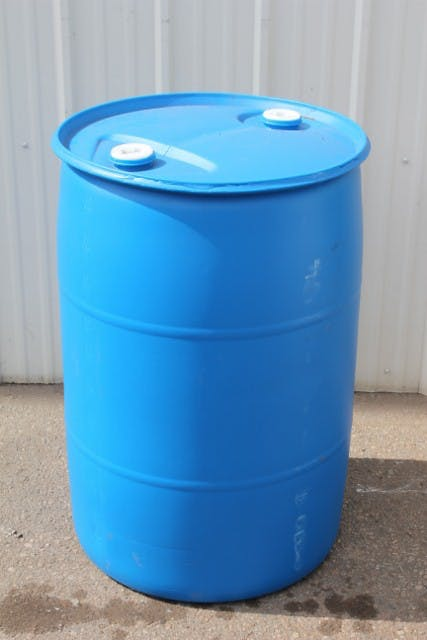55 gallon Closed Top Poly Barrel, Food Grade, Steam Cleaned Barrel sold by Container Reclaimer