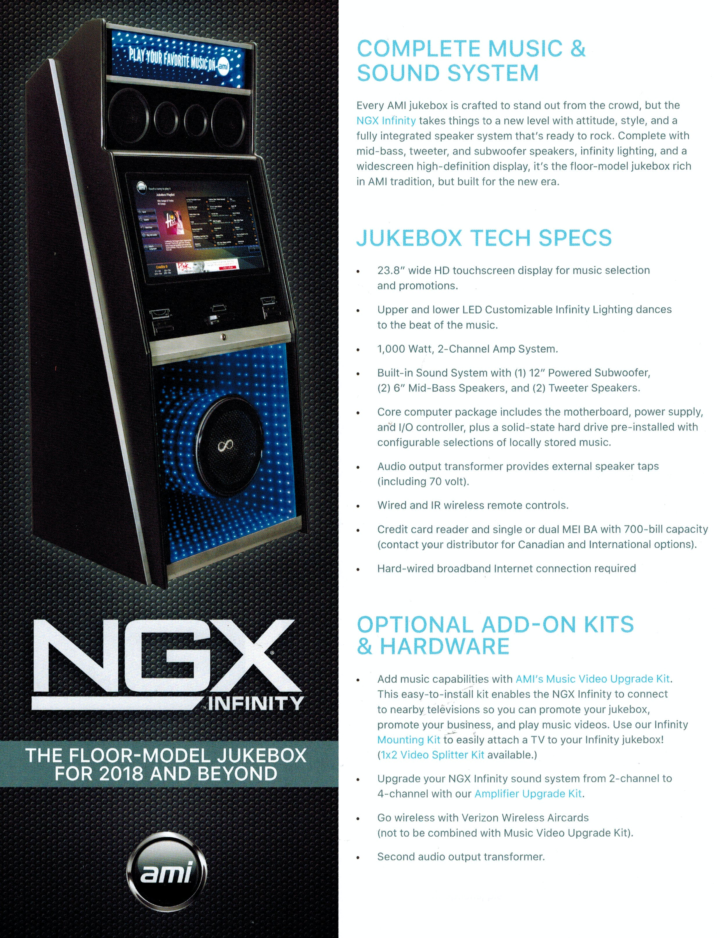 Jukebox Product Catalog - Photos, Pricing, and Specifications