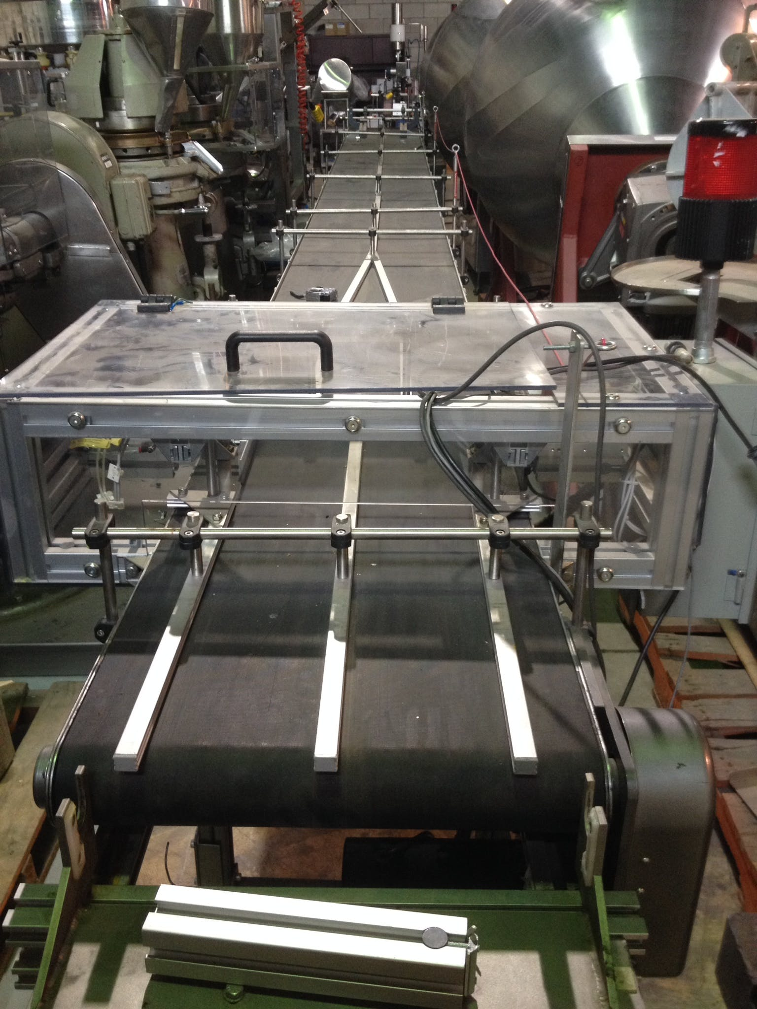 ELECTROTECH Rubber Belt Conveyor - 21 feet  Conveyor sold by Aevos Equipment