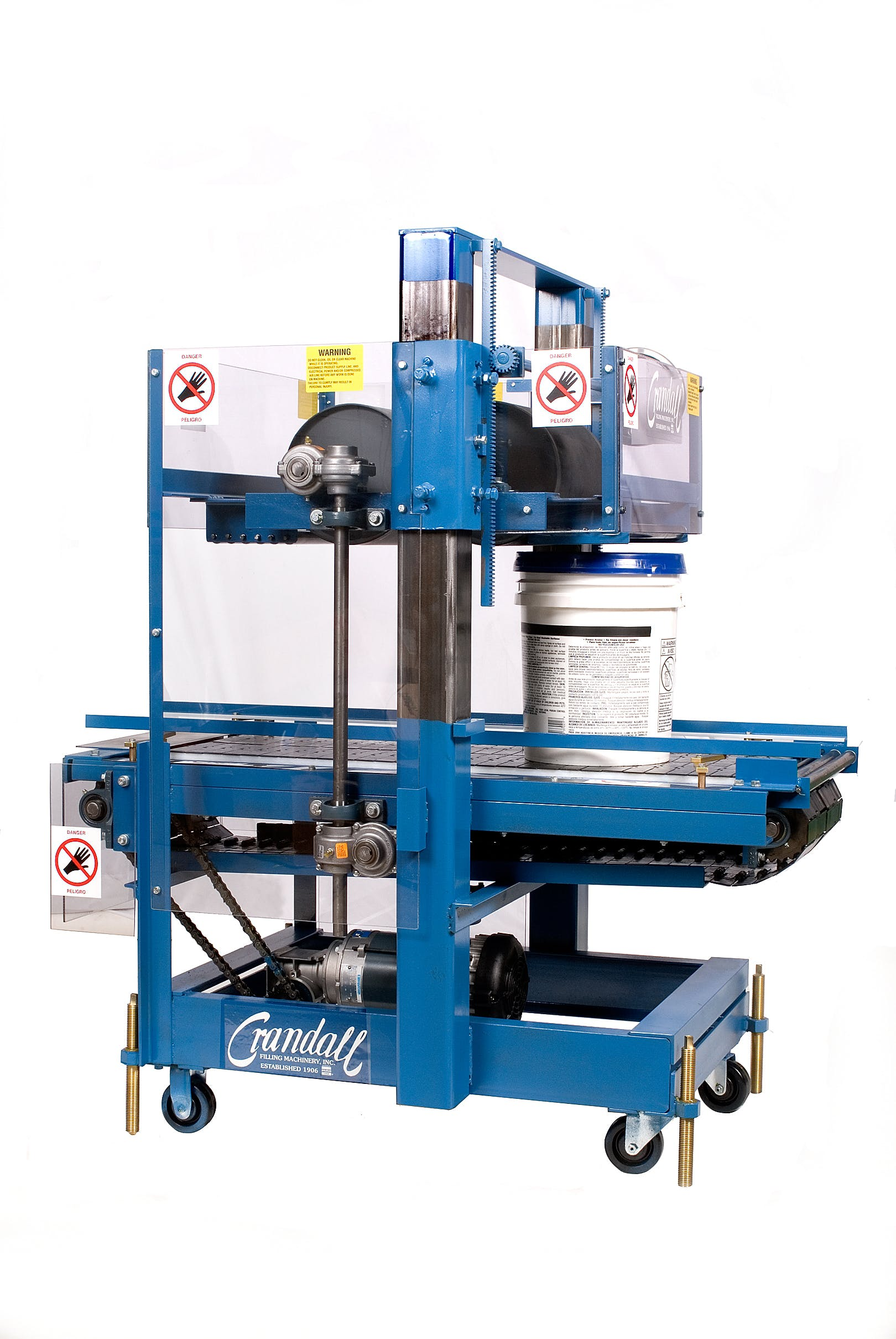 PPC/5 roll trough pail closer Packaging equipment sold by Crandall Filling Machinery, Inc.