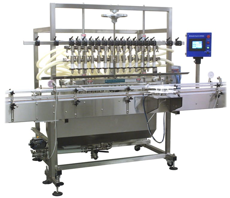 Overflow Filling Machine Bottle filler sold by Inline Filling Systems