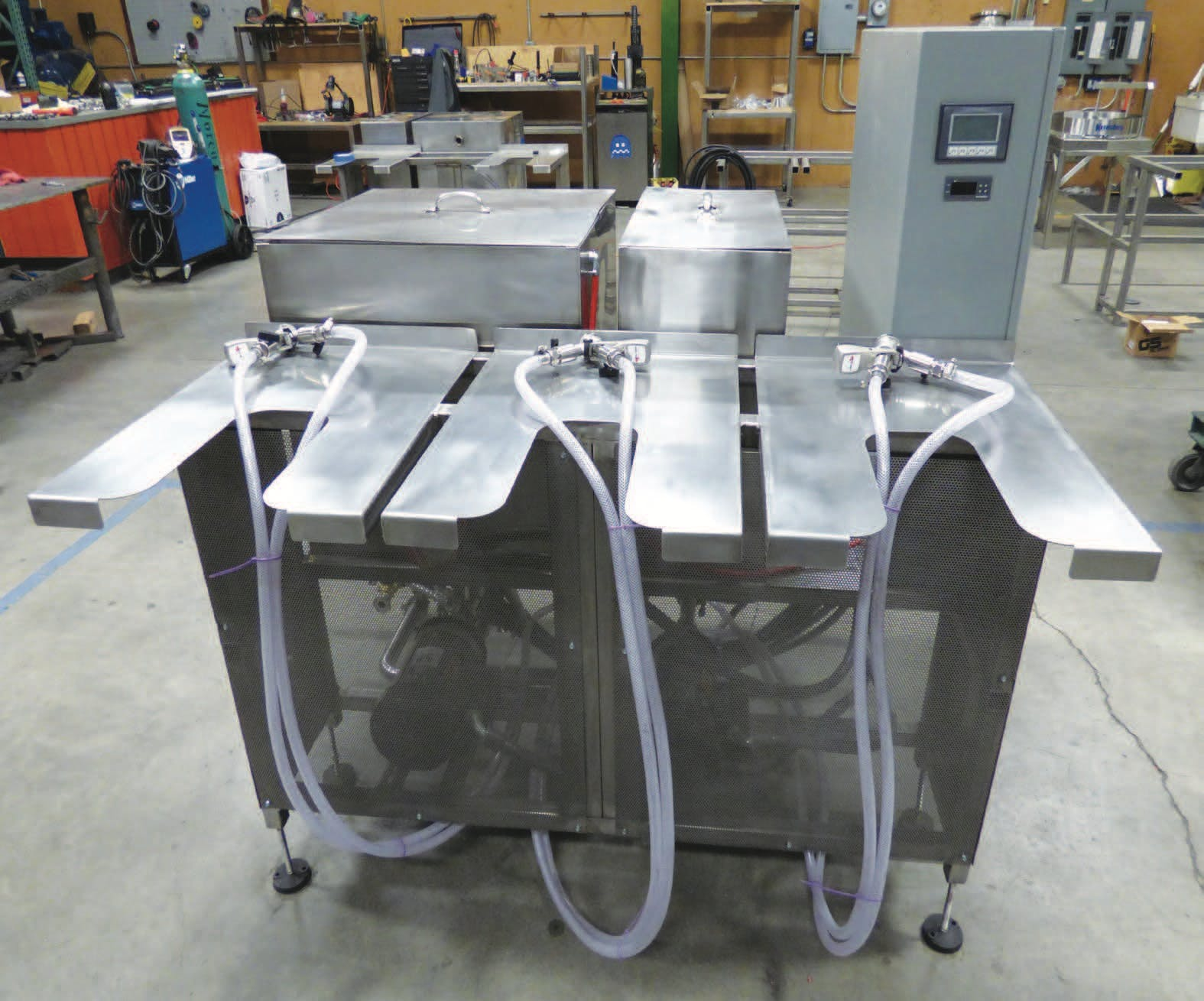SAKW15 - Semi Automatic Tri-Station Keg Washer Keg washer sold by WeCan Brewing Systems