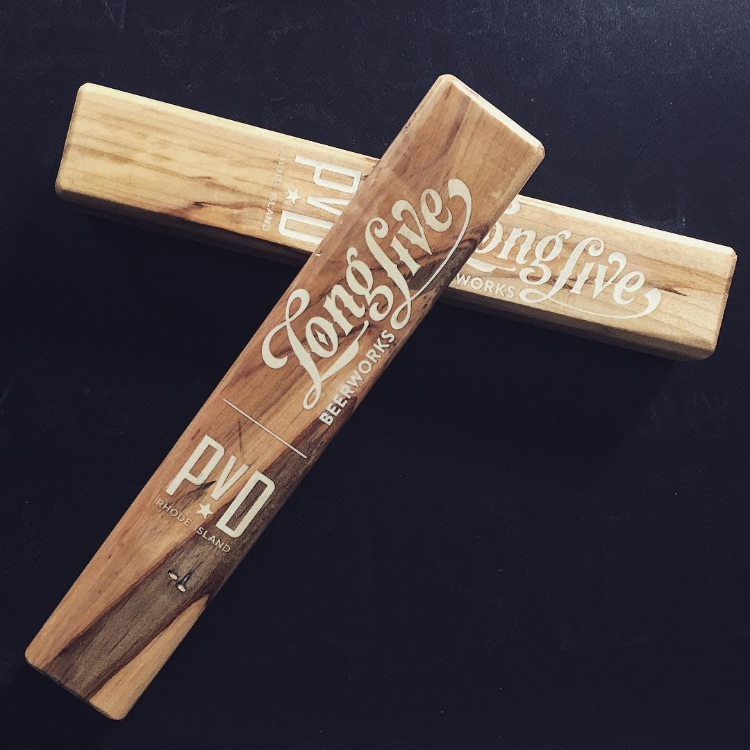 Etched and Color Filled Tap Handles Tap handle sold by Half Yankee Workshop