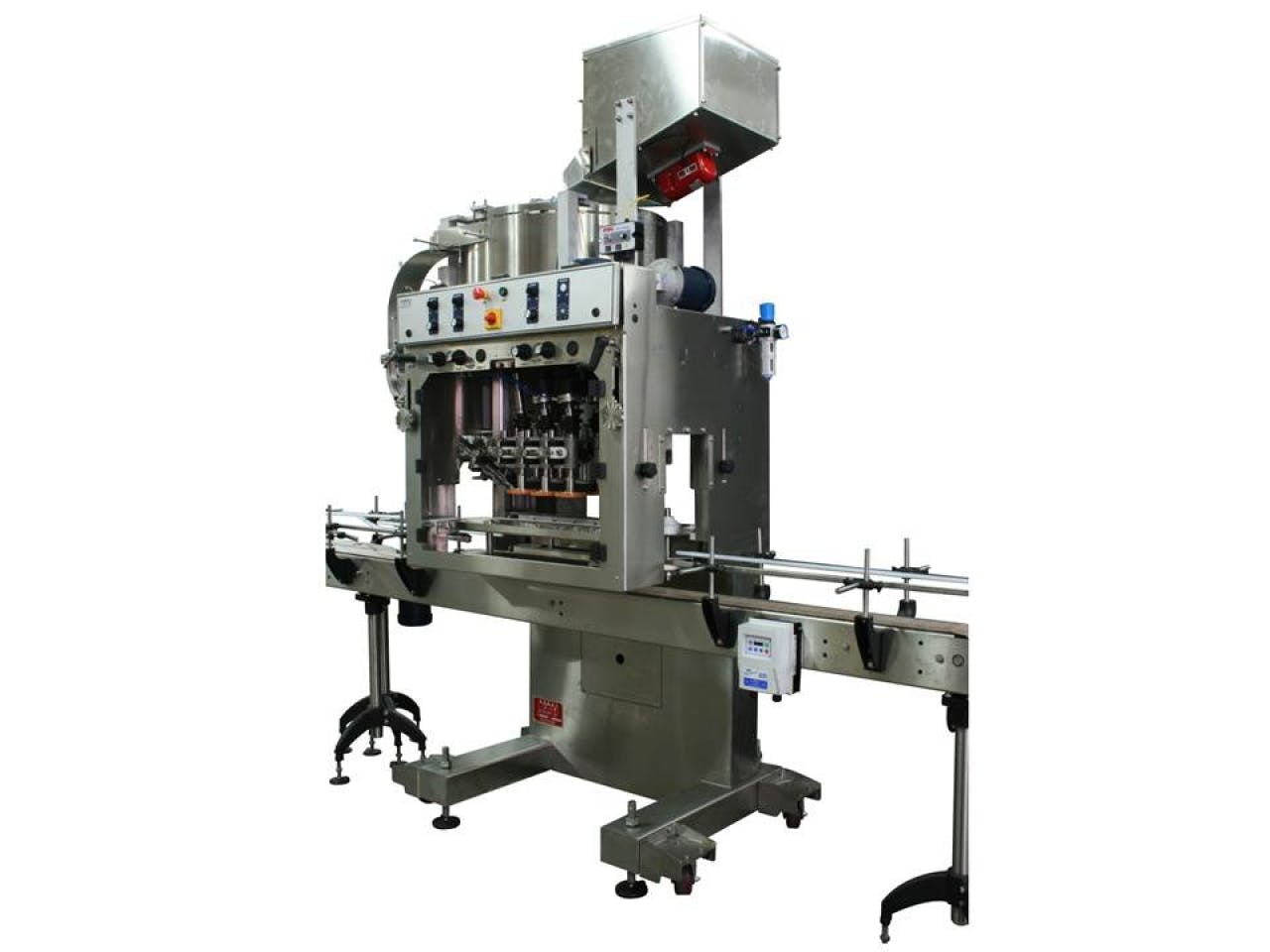 Automatic Inline Bottle Capping Machine Model TruCap-X-Cent Bottle capper sold by ACASI Machinery