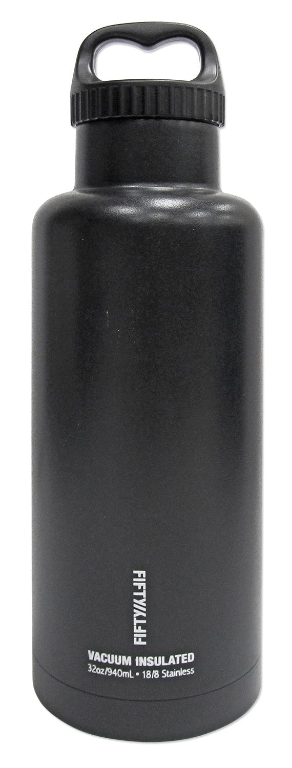 32oz - Black - 32oz - Insulated Growler - sold by Fifty/Fifty Bottles (Icy-Hot Hydration, LLC)