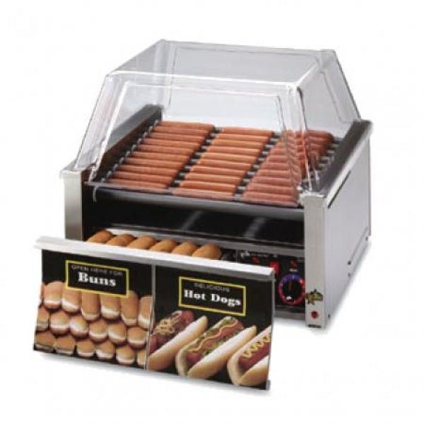 """Grill-Max Pro 24"""" Hot Dog Roller Grill w/ Bun Drawer"""